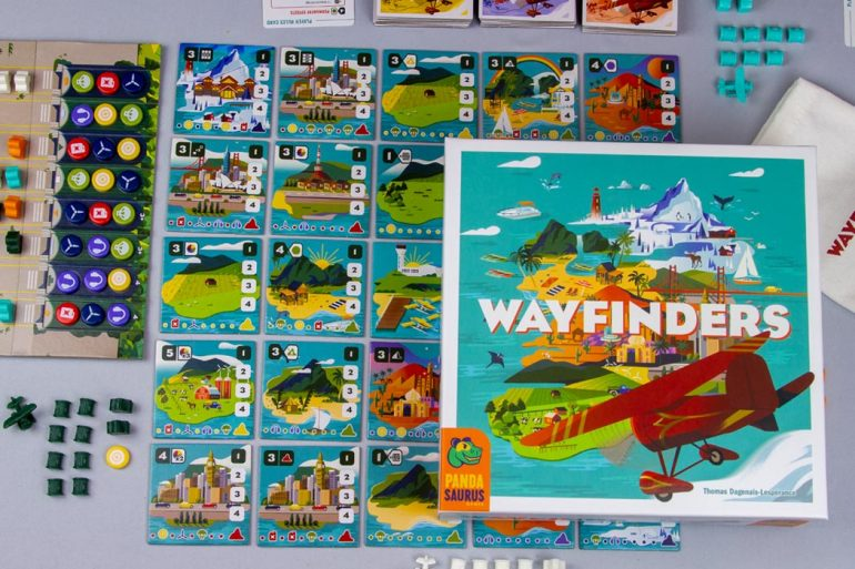 Wayfinders Board Game Box Components