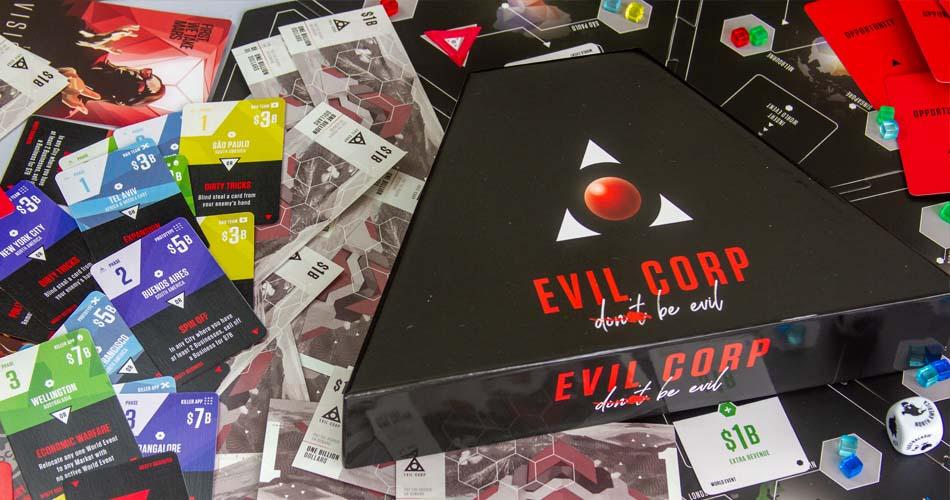Evil Corp Board Game Box Art