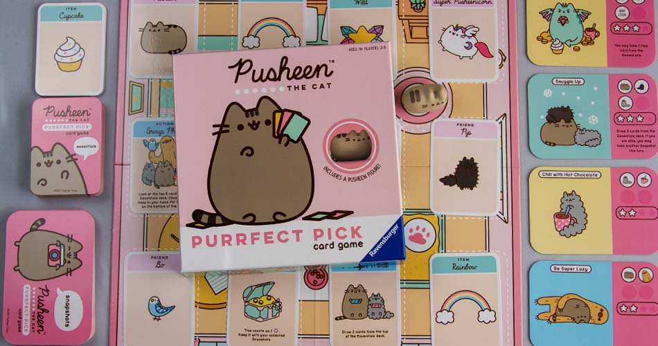 Pusheen The Cat Purrfect Pick Card Game Box Art