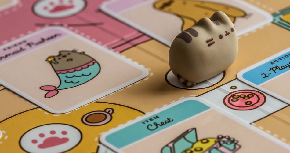Pusheen The Cat Purrfect Pick Card Game Plush Cat