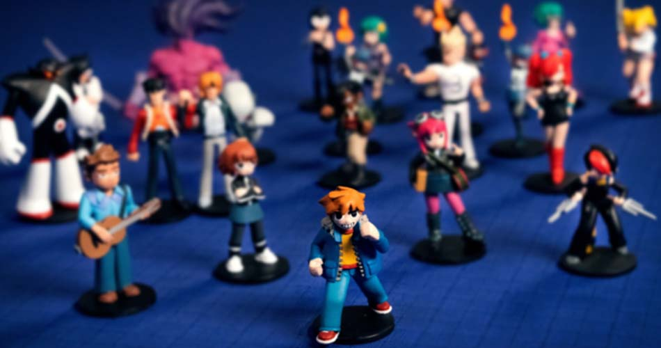 Scott Pilgrim Miniatures Game Characters