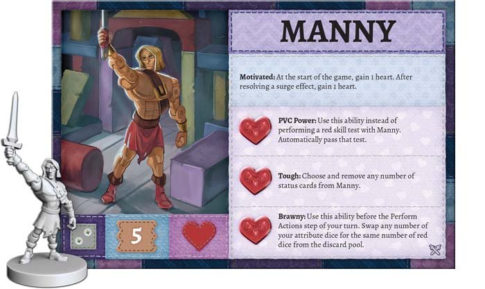 Stuffed Fables Expansion Manny Card