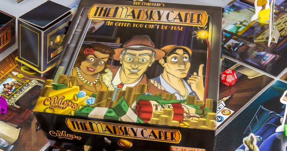 The Mansky Caper Board Game Box Art
