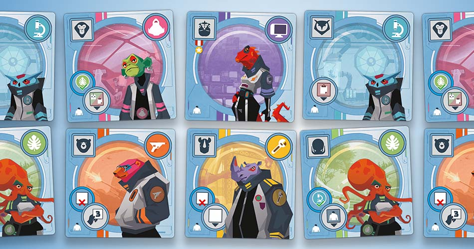 Wild Space Board Game Specialist Cards