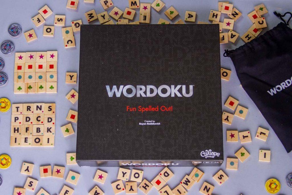 Wordoku Board Game Box Art Components