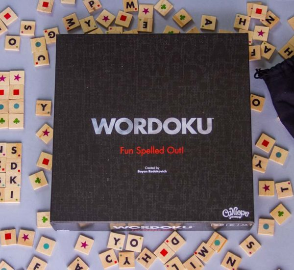 Wordoku Board Game Box Art Components