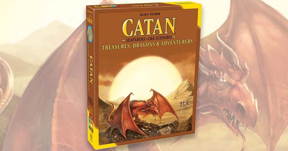 New Settlers of Catan Expansion Treasures, Dragons & Adventures
