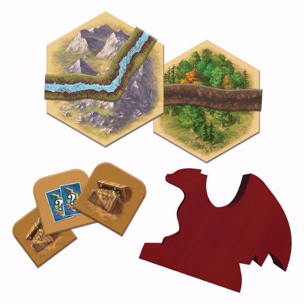 Catan Treasures Dragons and Adventurers Components