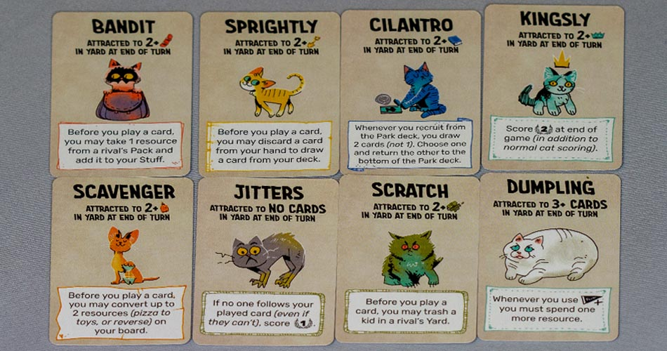 Fort Cats and Dogs Expansion Cat Cards