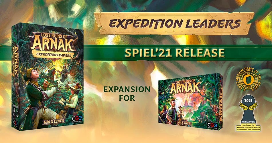 Lost Ruins of Arnak Expedition Leaders Expansion Announcement Banner