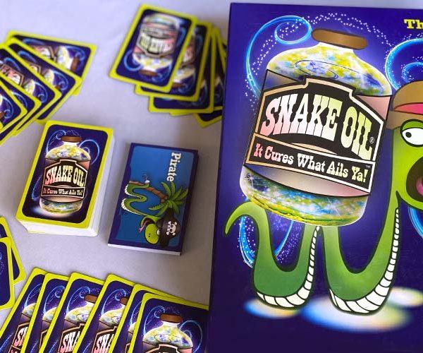 Snake Oil Board Game Box Art