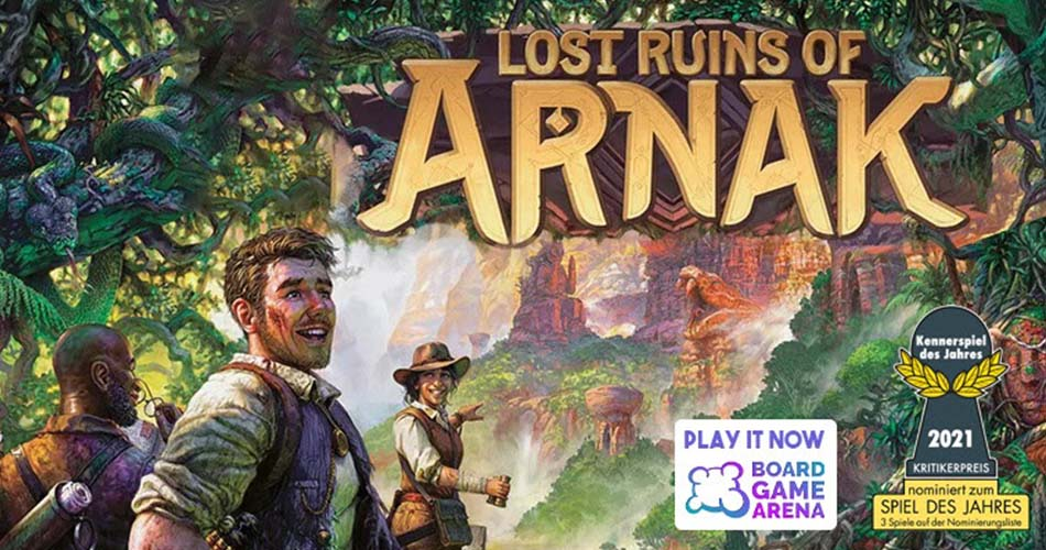 Top 2021 Game Lost Ruins of Arnak Available on Board Game Arena