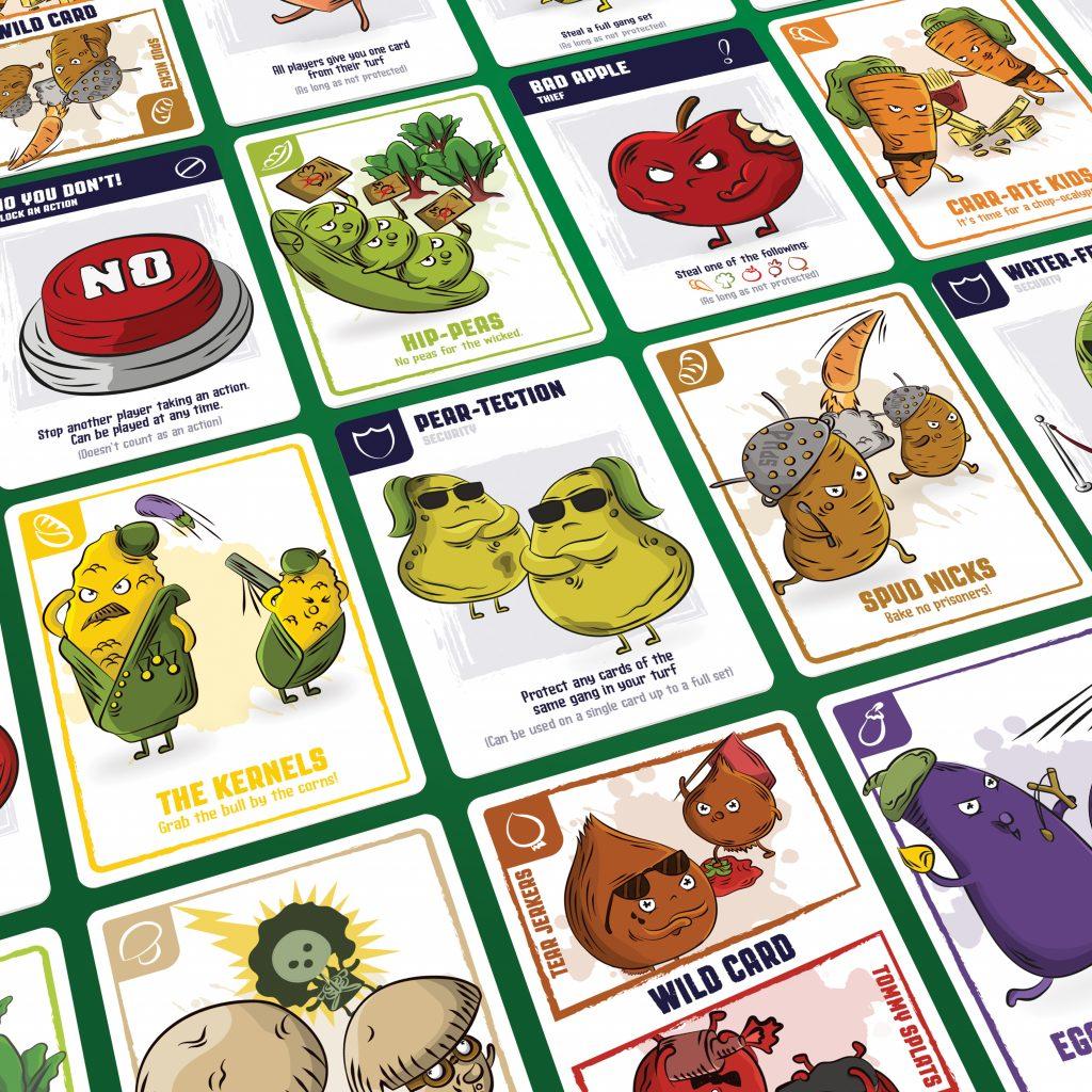 Plant Based Riot Board Game Kickstarter Components