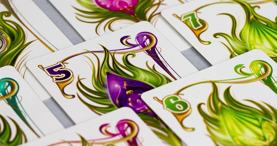Enchanted Plumes Board Game Card Pyramid