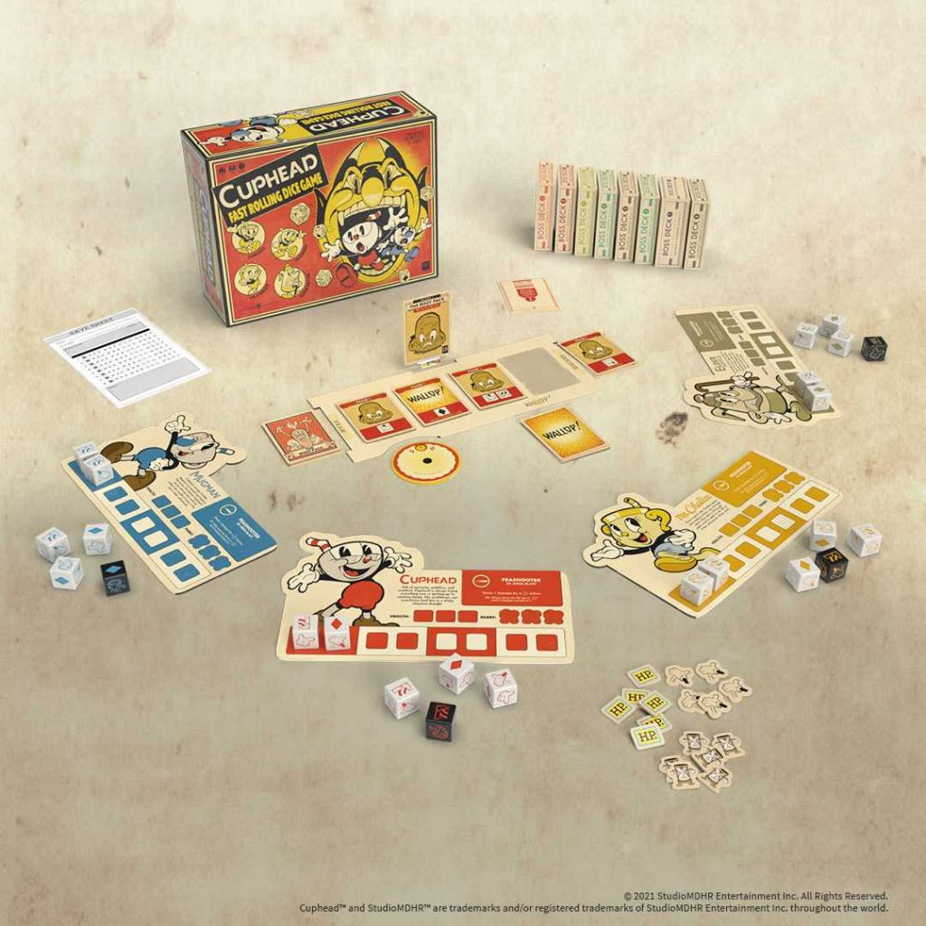 Cuphead Board Game Components