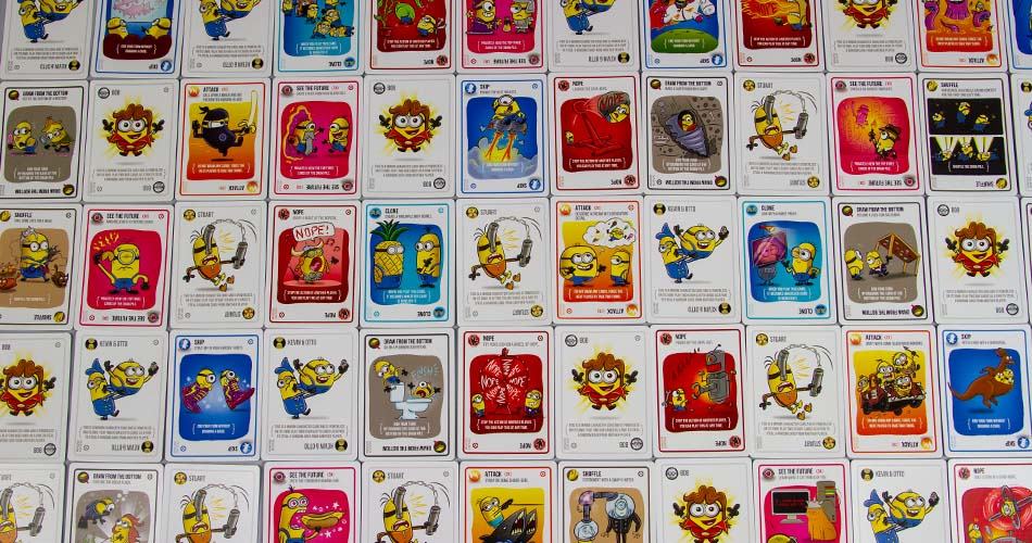 Exploding Minions Card Game All Card Descriptions