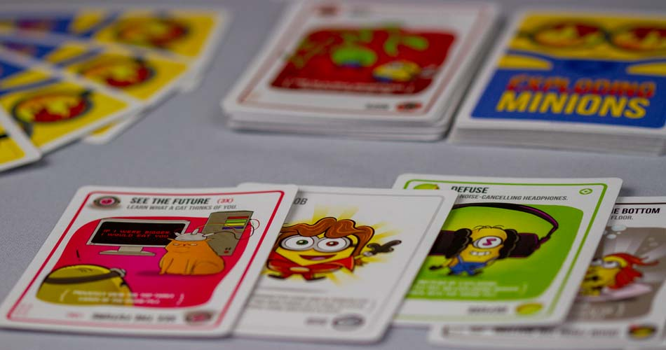 Exploding Minions Card Game Player Hand