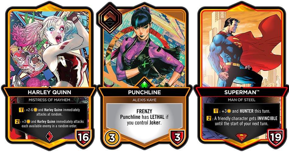 Digital CCG DC Dual Force Cards Harley Quinn