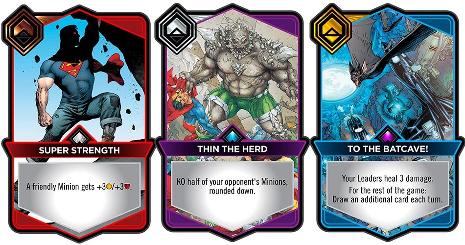 Digital CCG DC Dual Force Cards Super Strength