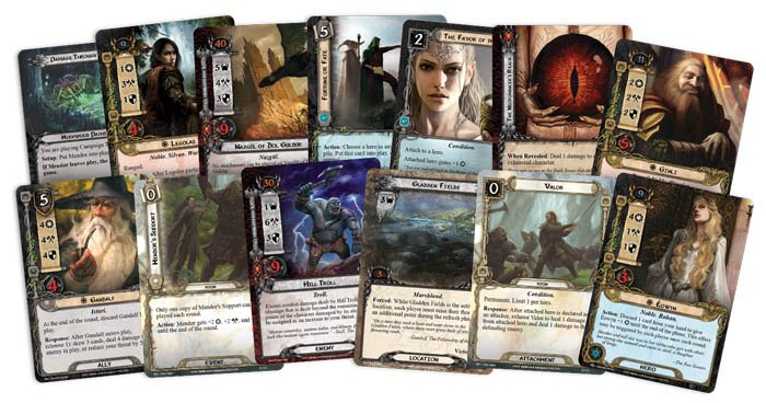Lord of the Rings Card Game New Card Types