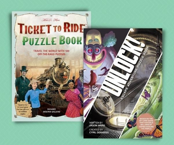 Puzzle Books Using Ticket To Ride and Unlock Escape Room Brands